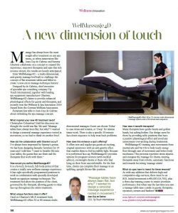 European Spa Mag June-July 2016 WellMassage4D